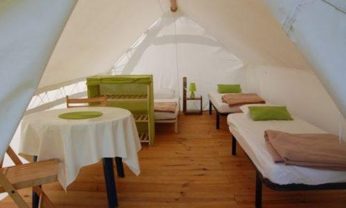 intérieur tente trappeur