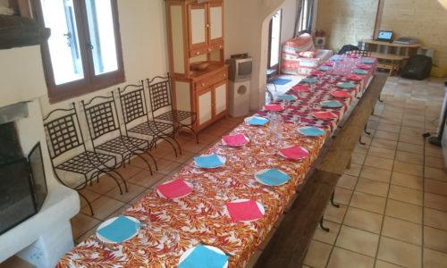 salle à manger gîte du Chastel
